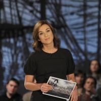 """Foto Nicoloro G. Milano 17/12/2010 Ultima puntata dell' edizione 2010 della trasmissione su La7 """" Invasioni barbariche """". nella foto Daria Bignardi"""