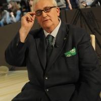 """Foto Nicoloro G. 18/03/2011 Milano Trasmissione televisiva su La7 """" Invasioni barbariche """" condotta da Daria Bignardi. nella foto Mario Borghezio"""