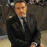 """Foto Nicoloro G. 18/03/2011 Milano Trasmissione televisiva su La7 """" Invasioni barbariche """" condotta da Daria Bignardi. nella foto Vittorio Emanuele Parsi"""