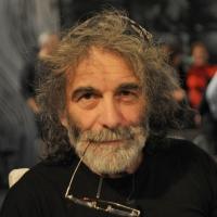"""Foto Nicoloro G. 18/03/2011 Milano Trasmissione televisiva su La7 """" Invasioni barbariche """" condotta da Daria Bignardi. nella foto Mauro Corona"""