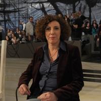 """Foto Nicoloro G. 18/03/2011 Milano Trasmissione televisiva su La7 """" Invasioni barbariche """" condotta da Daria Bignardi. nella foto Alessandra Faiella"""