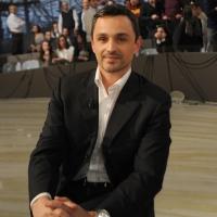 """Foto Nicoloro G. 18/03/2011 Milano Trasmissione televisiva su La7 """" Invasioni barbariche """" condotta da Daria Bignardi. nella foto Filippo Ongaro"""