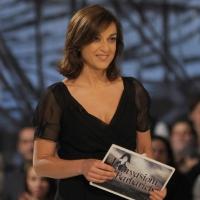 """Foto Nicoloro G. 18/03/2011 Milano Trasmissione televisiva su La7 """" Invasioni barbariche """" condotta da Daria Bignardi. nella foto Daria Bignardi"""