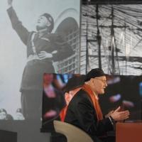 """Foto Nicoloro G.  19/11/2010 Milano, Trasmissione televisiva """"Le Invasioni barbariche"""" in programmazione su La7 e condotta da Daria Bignardi. nella foto Antonio Pennacchi"""