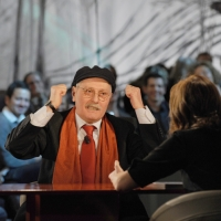 """Foto Nicoloro G.  19/11/2010 Milano, Trasmissione televisiva """"Le Invasioni barbariche"""" in programmazione su La7 e condotta da Daria Bignardi. nella foto Antonio Pennacchi – Daria Bignardi"""