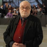 """Foto Nicoloro G. 21/01/2011 Milano Trasmissione televisiva su La7 """" Invasioni barbariche """" condotta da Daria Bignardi. nella foto Ruggero Guarini"""