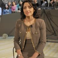 """Foto Nicoloro G. 21/01/2011 Milano Trasmissione televisiva su La7 """" Invasioni barbariche """" condotta da Daria Bignardi. nella foto Irene Tinagli"""