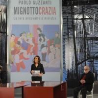 """Foto Nicoloro G. 21/01/2011 Milano Trasmissione televisiva su La7 """" Invasioni barbariche """" condotta da Daria Bignardi. nella foto Daria Bignardi e pubblico e ospiti in studio"""