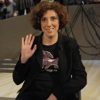 """Foto Nicoloro G. 21/01/2011 Milano Trasmissione televisiva su La7 """" Invasioni barbariche """" condotta da Daria Bignardi. nella foto Alessandra Faiella"""
