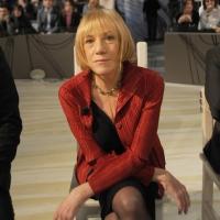 """Foto Nicoloro G. 21/01/2011 Milano Trasmissione televisiva su La7 """" Invasioni barbariche """" condotta da Daria Bignardi. nella foto Lidia Ravera"""