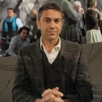 """Foto Nicoloro G. 21/01/2011 Milano Trasmissione televisiva su La7 """" Invasioni barbariche """" condotta da Daria Bignardi. nella foto Alessandro Costacurta"""