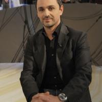 """Foto Nicoloro G. 21/01/2011 Milano Trasmissione televisiva su La7 """" Invasioni barbariche """" condotta da Daria Bignardi. nella foto Filippo Ongaro"""