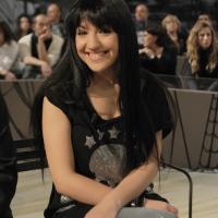 """Foto Nicoloro G. 21/01/2011 Milano Trasmissione televisiva su La7 """" Invasioni barbariche """" condotta da Daria Bignardi. nella foto Dorina Leka"""