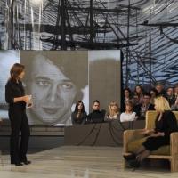 """Foto Nicoloro G. 28/01/2011 Milano Trasmissione televisiva su La7 """" Invasioni barbariche """" condotta da Daria Bignardi. nella foto Daria Bignardi  –Antonella D'Agostino"""