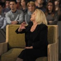 """Foto Nicoloro G. 28/01/2011 Milano Trasmissione televisiva su La7 """" Invasioni barbariche """" condotta da Daria Bignardi. nella foto Antonella D'Agostino"""