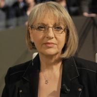 """Foto Nicoloro G. 28/01/2011 Milano Trasmissione televisiva su La7 """" Invasioni barbariche """" condotta da Daria Bignardi. nella foto Rosanna Schiralli"""