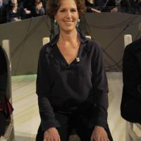 """Foto Nicoloro G. 28/01/2011 Milano Trasmissione televisiva su La7 """" Invasioni barbariche """" condotta da Daria Bignardi. nella foto Cristina Gabetti"""