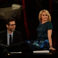 """Foto Nicoloro G.  01/02/2015  Milano    Trasmissione televisiva su Rai 3 """" Che tempo che fa """".  nella foto Fabio Fazio e Luciana Littizzetto."""