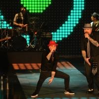 """Foto Nicoloro G.  01/02/2015  Milano    Trasmissione televisiva su Rai 3 """" Che tempo che fa """".  nella foto il rapper J Ax con la sua band."""
