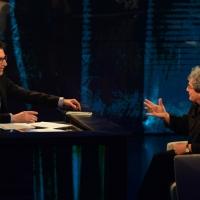 """Foto Nicoloro G.  01/02/2015  Milano    Trasmissione televisiva su Rai 3 """" Che tempo che fa """".  nella foto Fabio Fazio intervista lo scienziato Carlo Rovelli."""