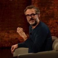 """Foto Nicoloro G.  01/03/2015   Milano    Trasmissione televisiva su Rai 3 """" Che tempo che fa """". nella foto lo chef pluristellato Massimo Bottura."""