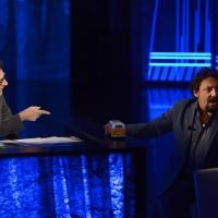 Foto Nicoloro G.   01/11/2015  Milano   Trasmissione televisiva su Rai 3 ' Che tempo che fa '. nella foto Fabio Fazio e l' attore Enrico Brignano.