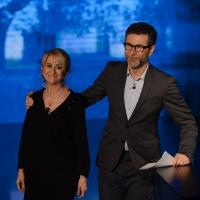 Foto Nicoloro G. 01/11/2015  Milano   Trasmissione televisiva su Rai 3 ' Che tempo che fa '. nella foto Fabio Fazio e Luciana Littizzetto.