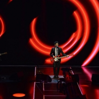 """Foto Nicoloro G.   03/05/2015  Milano   Trasmissione televisiva su Rai 3 """" Che tempo che fa """". nella foto da sinistra Niccolò Fabi, Max Gazzè e Daniele Silvestri."""