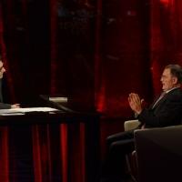 """Foto Nicoloro G.   03/05/2015  Milano   Trasmissione televisiva su Rai 3 """" Che tempo che fa """". nella foto Fabio Fazio intervista il professore Romano Prodi."""