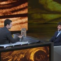 """Foto Nicoloro G. 05/03/2011 Milano Trasmissione televisiva su Rai3 """" Che tempo che fa """" condotta da Fabio Fazio. nella foto Fabio Fazio – Alberto Angela"""