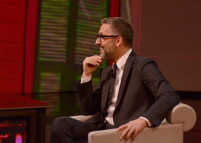 """Foto Nicoloro G. 09/03/2013 Milano Trasmissione televisiva su Rai3 """" Che tempo che fa"""" condotta da Fabio Fazio. nella foto Giuseppe Fiorello"""
