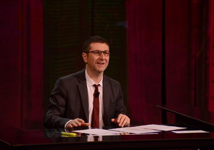 """Foto Nicoloro G. 09/03/2013 Milano Trasmissione televisiva su Rai3 """" Che tempo che fa"""" condotta da Fabio Fazio. nella foto Fabio Fazio"""