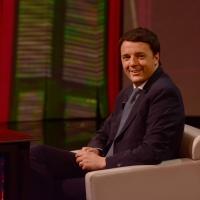 """Foto Nicoloro G. 09/03/2013 Milano Trasmissione televisiva su Rai3 """" Che tempo che fa"""" condotta da Fabio Fazio. nella foto Matteo Renzi"""