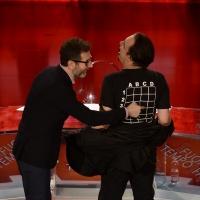 Foto Nicoloro G. 09-01-2016 Milano Trasmissione televisiva su Rai 3 ' Che fuori tempo che fa '. nella foto Fabio Fazio e Nino Frassica.