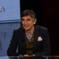 09-01-2016 Milano Trasmissione televisiva su Rai 3 ' Che fuori tempo che fa '. nella foto l' attore Vincenzo Salemme.