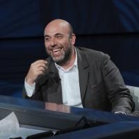 """Foto Nicoloro G. 09/04/2011 Milano Trasmissione televisiva su Rai3 """" Che tempo che fa """" condotta da Fabio Fazio. nella foto Paolo Virzì"""