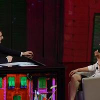 """Foto Nicoloro G. 10/03/2013 Milano Trasmissione televisiva su Rai3 """" Che tempo che fa """" condotta da Fabio Fazio. nella foto Fabio Fazio – Maria De Filippi"""