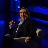 Foto Nicoloro G. 10-01-2016 Milano Trasmissione televisiva su Rai 3 ' Che tempo che fa '. nella foto il maestro Riccardo Muti.