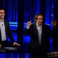 Foto Nicoloro G. 10-01-2016 Milano Trasmissione televisiva su Rai 3 ' Che tempo che fa '. nella foto Fabio Fazio e il maestro Riccardo Muti.