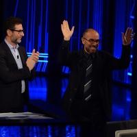 Foto Nicoloro G. 10-01-2016 Milano Trasmissione televisiva su Rai 3 ' Che tempo che fa '. nella foto Fabio Fazio e il regista Giuseppe Tornatore.