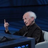 """Foto Nicoloro G. 10/04/2011 Milano Trasmissione televisiva su Rai3 """" Che tempo che fa """" condotta da Fabio Fazio. nella foto Zygmunt Bauman"""