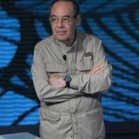 """Foto Nicoloro G. 10/04/2011 Milano Trasmissione televisiva su Rai3 """" Che tempo che fa """" condotta da Fabio Fazio. nella foto Gianni Boncompagni"""