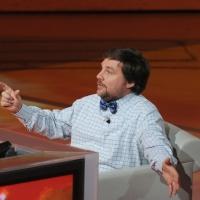 """Foto Nicoloro G. 15/10/2011 Milano Trasmissione televisiva su Rai3 """" Che tempo che fa """" condotta da Fabio Fazio. nella foto Luca Mercalli"""