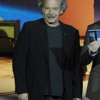 """Foto Nicoloro G. 15/10/2011 Milano Trasmissione televisiva su Rai3 """" Che tempo che fa """" condotta da Fabio Fazio. nella foto Gianmaria Testa"""
