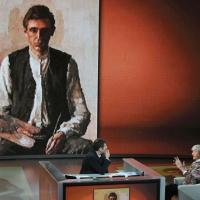 """Foto Nicoloro G. 16/10/2011 Milano Trasmissione su Rai3 """" Che tempo che fa """" condotta da Fabio Fazio. nella foto Fabio Fazio – Flavio Caroli"""