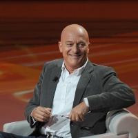 """Foto Nicoloro G. 16/10/2011 Milano Trasmissione su Rai3 """" Che tempo che fa """" condotta da Fabio Fazio. nella foto Claudio Bisio"""