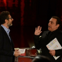 Foto Nicoloro G.   17/10/2015  Milano    Trasmissione televisiva su Rai 3 ' Che fuori tempo che fa '. nella foto Fabio Fazio e l' attore Nino Frassica.