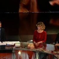 Foto Nicoloro G.   17/10/2015  Milano    Trasmissione televisiva su Rai 3 ' Che fuori tempo che fa '. nella foto da sinistra Fabio Fazio, Margherita Buy e Maria Sole Tognazzi.
