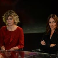 Foto Nicoloro G.   17/10/2015  Milano    Trasmissione televisiva su Rai 3 ' Che fuori tempo che fa '. nella foto l' attrice Margherita Buy, a sinistra, e la regista Maria Sole Tognazzi.