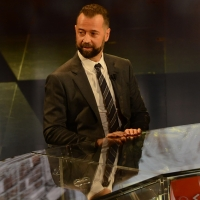Foto Nicoloro G.   17/10/2015  Milano    Trasmissione televisiva su Rai 3 ' Che fuori tempo che fa '. nella fotol' attore e scrittore Fabio Volo.